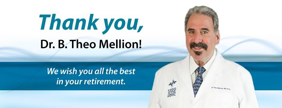 Dr. B. Theo Mellion retires.